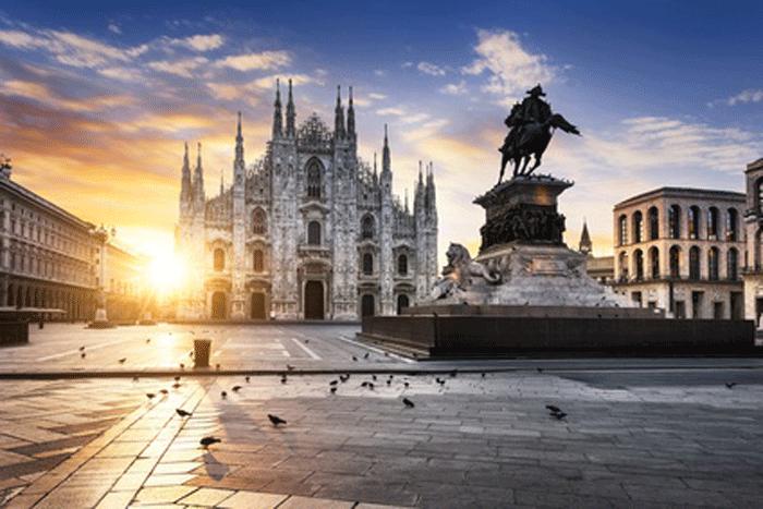 Mailand im Sommer für Touristen